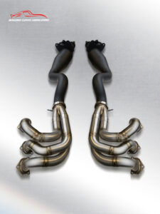 Porsche 718 GT4 Exhaust BC Fabs Manifolds and OPF delete
